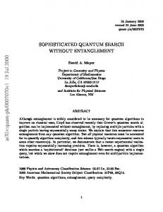 Sophisticated quantum search without entanglement