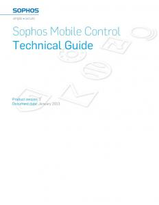 Sophos Mobile Control Technical Guide