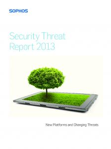 Sophos Security Threat Report 2013