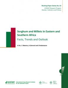 Sorghum and Millets in Eastern and Southern Africa ... - OAR@ICRISAT