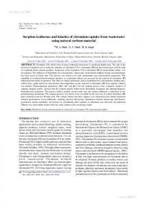 Sorption isotherms and kinetics of chromium uptake