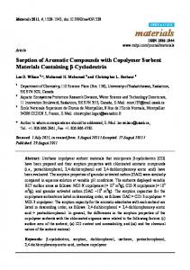 Sorption of Aromatic Compounds with Copolymer ... - Semantic Scholar