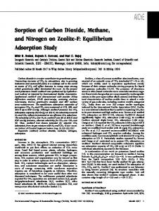 Sorption of Carbon Dioxide, Methane, and Nitrogen