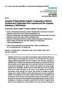 Sorption of Hydrophobic Organic Compounds on ... - BioMedSearch