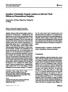 Sorption of Ionizable Organic Amines on Soil and