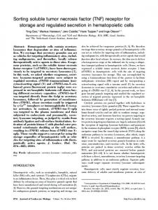 Sorting soluble tumor necrosis factor (TNF ... - Wiley Online Library