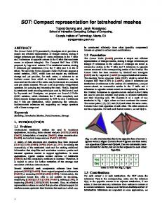 SOT: Compact representation for tetrahedral meshes - College of ...
