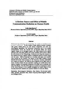 Source and Effect of Mobile Communication Radiation on Human Health