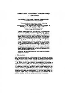 Source Code Metrics and Maintainability: a Case ... - Semantic Scholar