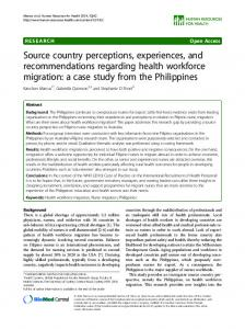 Source country perceptions, experiences, and