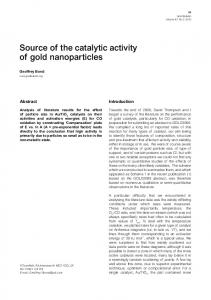 Source of the catalytic activity of gold nanoparticles - Springer Link