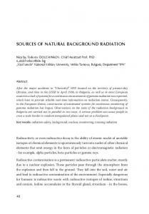 sources of natural background radiation