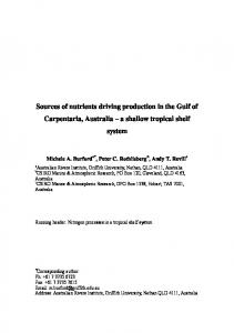 Sources of nutrients driving production in the Gulf of ...