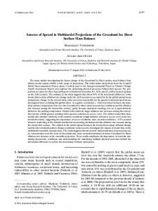 Sources of Spread in Multimodel Projections of the ... - AMS Journals