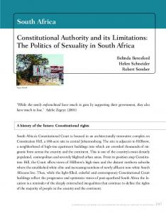 South Africa Constitutional Authority and its Limitations: The Politics of ...