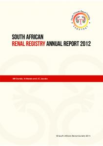 SOUTH AFRICAN RENAL REGISTRY ANNUal REPORT 2012