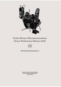 South African Telecommunications Sector ... - Research ICT Africa