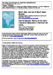 South Asia: Journal of South Asian Studies And ...