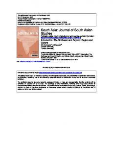 South Asia: Journal of South Asian Studies