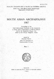 south asian archaeology