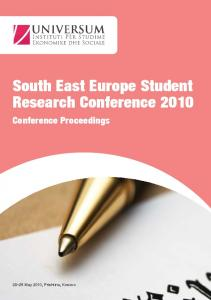 South East Europe Student Research Conference ... - fes-prishtina.org