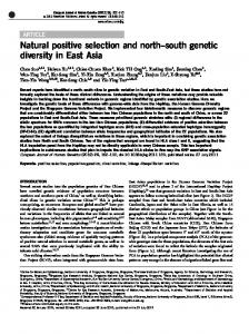 south genetic diversity in East Asia - Nature