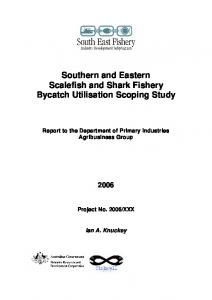 Southern and Eastern Scalefish and Shark Fishery ... - CiteSeerX