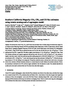 Southern California Megacity CO2, CH4, and CO flux ... - ACPD