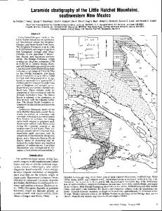southwestern New Mexico - New Mexico Bureau of Geology & Mineral ...