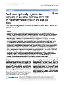 Sox9 transcriptionally regulates Wnt signaling in ...