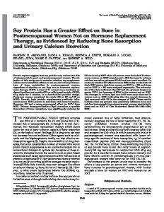 Soy Protein Has a Greater Effect on Bone in ... - Semantic Scholar