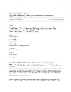 Soybean Cyst Nematode Reproduction in the North Central United ...