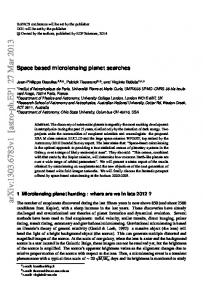 Space based microlensing planet searches
