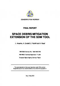 space debris mitigation extension of the sdm tool