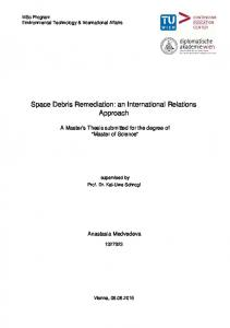 Space Debris Remediation: an International Relations ...