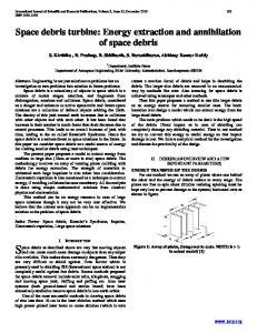 Space debris turbine: Energy extraction and annihilation of space debris