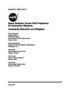 Space Radiation Cancer Risk Projections for Exploration Missions ...