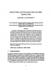 Space-time adaptive solution of first order PDEs - Department of ...