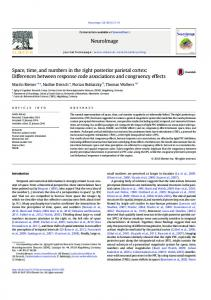 Space, time, and numbers in the right posterior parietal cortex ...