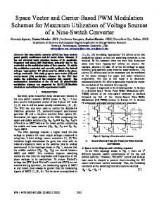 Space Vector and Carrier-Based PWM Modulation ... - IEEE Xplore
