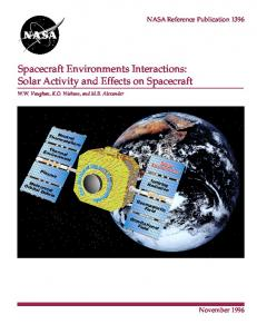 Spacecraft Environments Interactions: Solar Activity and ... - CiteSeerX