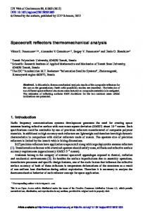 Spacecraft reflectors thermomechanical analysis - CiteSeerX