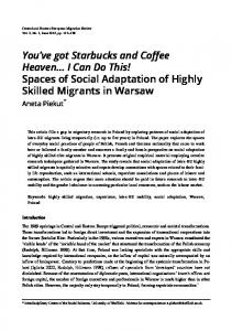 Spaces of Social Adaptation of Highly Skilled Migrants in Warsaw
