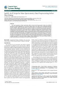 SpADS: An R Script for Mass Spectrometry Data Preprocessing before ...