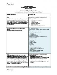 Spanish 6th grade curriculum tools - Instruction & Interventions Wiki ...