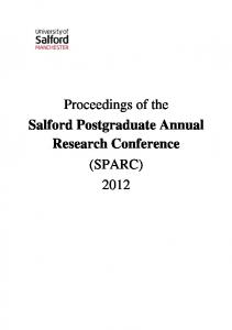 (SPARC) 2012 - University of Salford Institutional Repository
