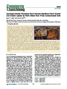 Sparingly-Soluble Phosphate Rock Induced ... - ACS Publications