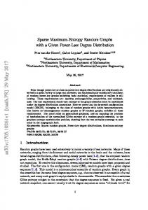 Sparse Maximum-Entropy Random Graphs with a Given Power-Law ...