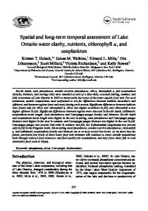 Spatial and long-term temporal assessment of Lake ...