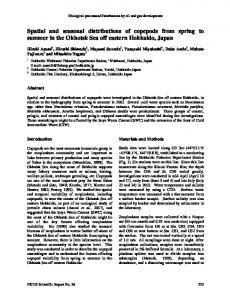 Spatial and seasonal distributions of copepods ... - Semantic Scholar